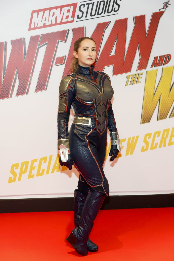 Lauren Murphy from Navan pictured at the Marvel Studios special preview screening of ANT MAN AND THE WASP in Cineworld IMAX Dublin. Picture Andres Poveda