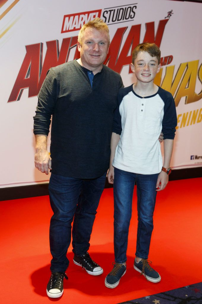 Owen and Finn Corcoran (14) are pictured at the Marvel Studios special preview screening of ANT MAN AND THE WASP in Cineworld IMAX Dublin. Picture Andres Poveda