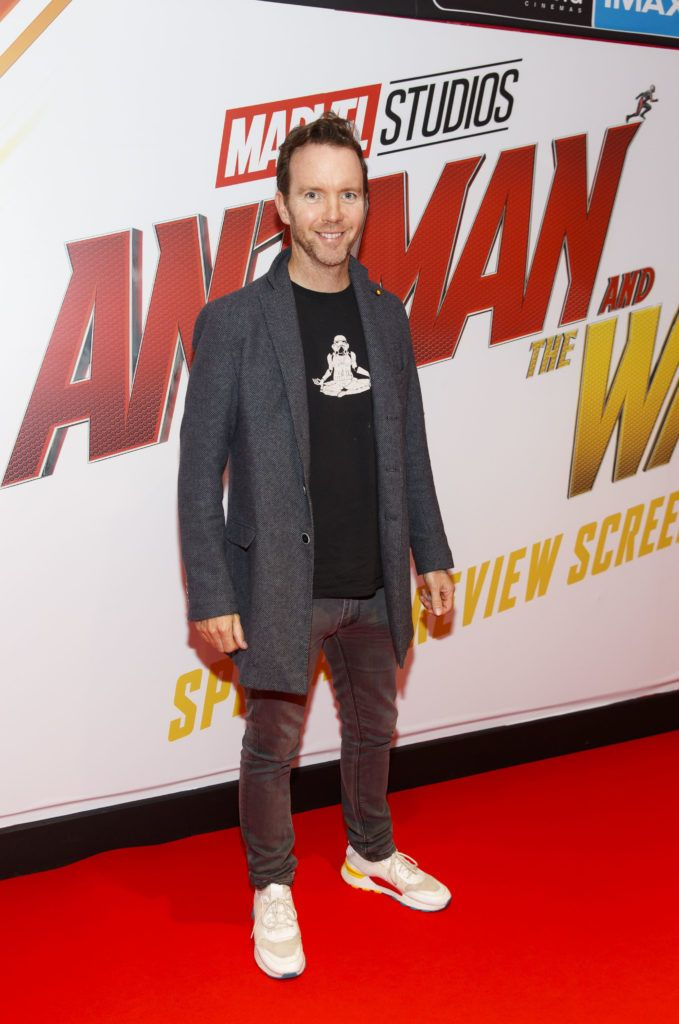 Dermot Whelan pictured at the Marvel Studios special preview screening of ANT MAN AND THE WASP in Cineworld IMAX Dublin. Picture Andres Poveda