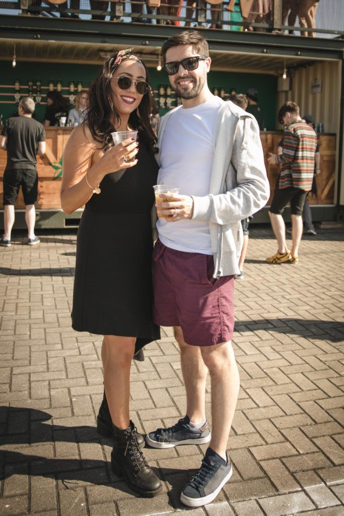 Pictured here is Dawn Kane and Jason Kane at Beatyard in partnership with Jameson Irish Whiskey. Taking place throughout the August bank holiday weekend in Dun Laoghaire. Picture: Derek Kennedy