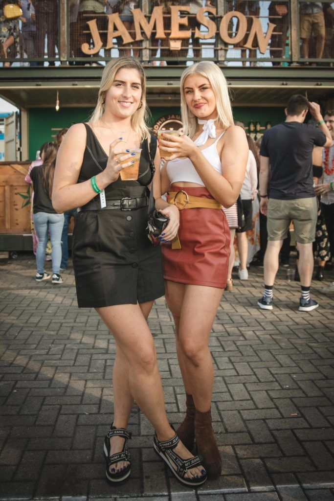 Pictured here is Aoife McCabe and Caroline Crowley at Beatyard in partnership with Jameson Irish Whiskey. Taking place throughout the August bank holiday weekend in Dun Laoghaire. Picture: Derek Kennedy