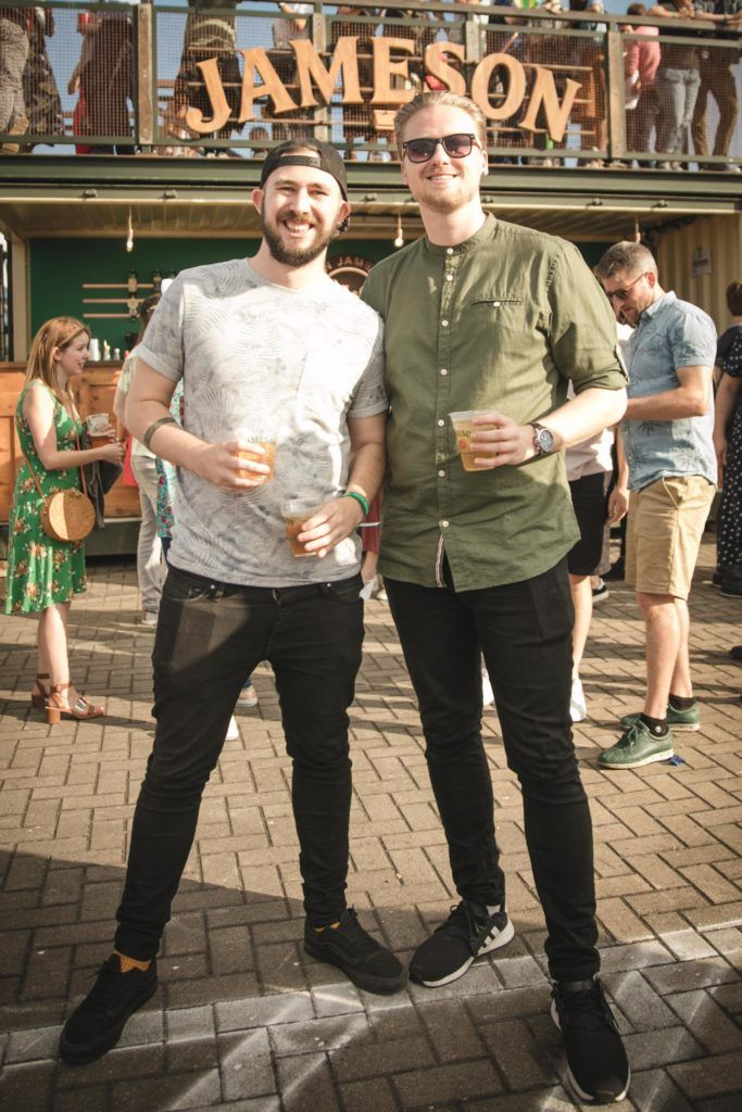 Pictured here is Adam Kavanagh and David Hardiman at Beatyard in partnership with Jameson Irish Whiskey. Taking place throughout the August bank holiday weekend in Dun Laoghaire. Picture: Derek Kennedy