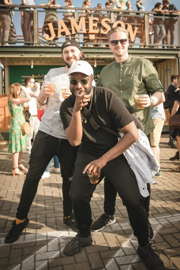Pictured here is Adam Kavanagh, Lui Rwego and David Hardiman at Beatyard in partnership with Jameson Irish Whiskey. Taking place throughout the August bank holiday weekend in Dun Laoghaire. Picture: Derek Kennedy