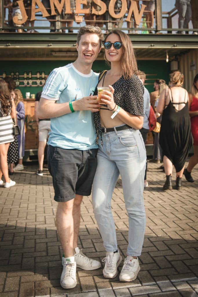 Pictured here is David Moloney and Louise Curtis at Beatyard in partnership with Jameson Irish Whiskey. Taking place throughout the August bank holiday weekend in Dun Laoghaire. Picture: Derek Kennedy