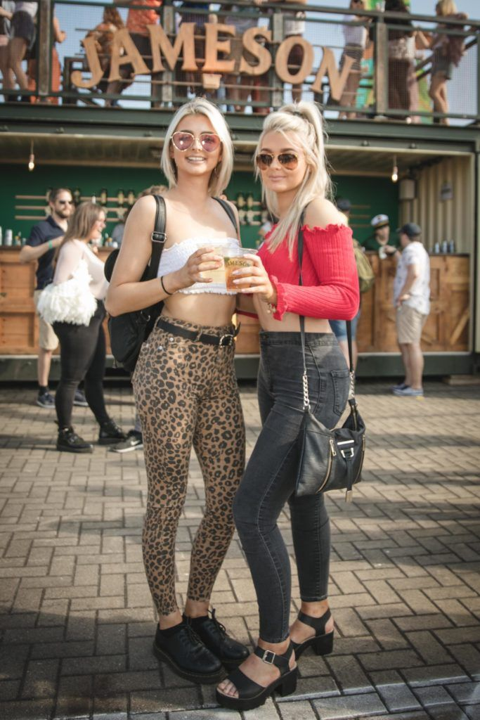 Pictured here is Grainne Marron and Sinead Marron at Beatyard in partnership with Jameson Irish Whiskey. Taking place throughout the August bank holiday weekend in Dun Laoghaire. Picture: Derek Kennedy