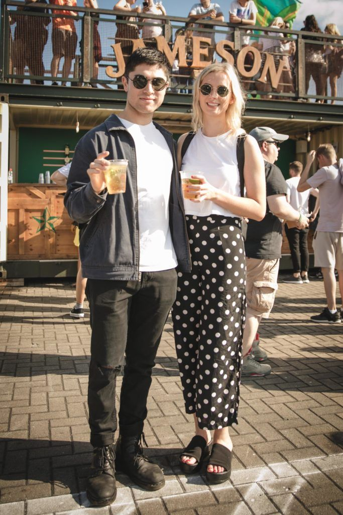 Pictured here is Shane Berkery and Sophie Byrne at Beatyard in partnership with Jameson Irish Whiskey. Taking place throughout the August bank holiday weekend in Dun Laoghaire. Picture: Derek Kennedy