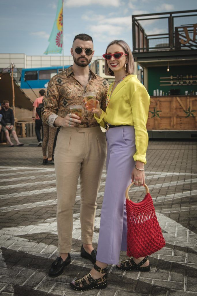 Pictured here is Jake McCabe and Niamh O'Donoghue at Beatyard in partnership with Jameson Irish Whiskey. Taking place throughout the August bank holiday weekend in Dun Laoghaire. Picture: Derek Kennedy