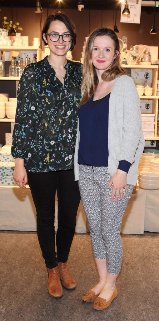 Roisin Healy and Caroline Boland at the opening of Søstrene Grene on South Great Georges Street, Dublin. Picture: Brian McEvoy Photograpy