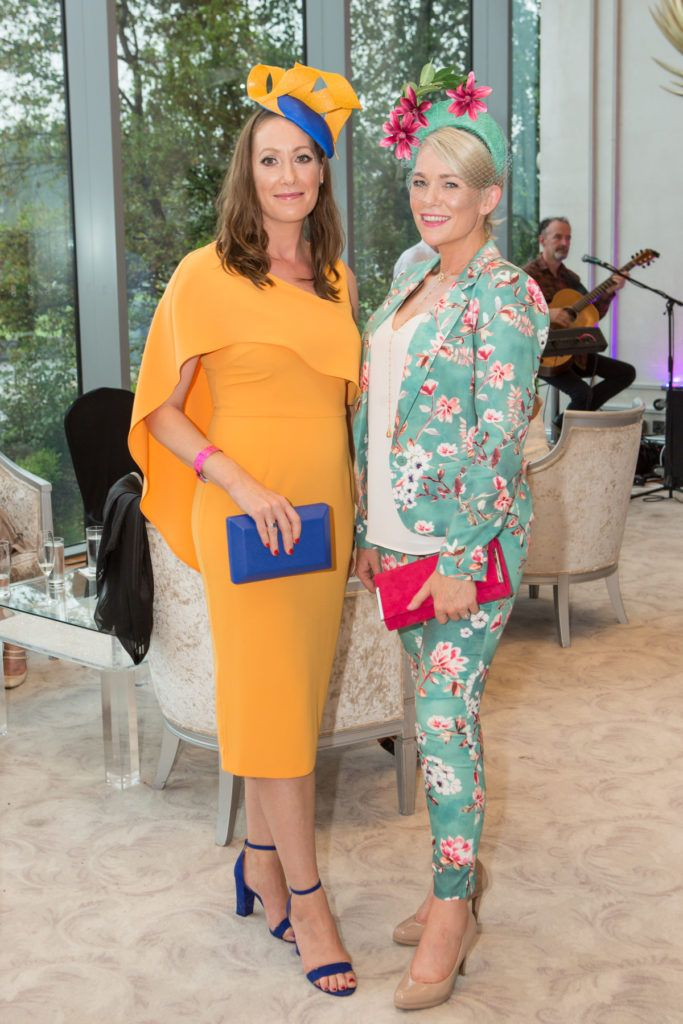 Mairead Glynn and Fionnuala Glynn at the Ladies Day After Party in the g Hotel & Spa. Photo: Martina Regan