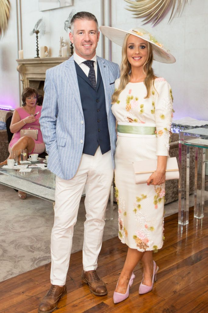 Winner of the Most Stylish Man Gavin Fleet and Aoiveann Fleet at the Ladies Day After Party in the g Hotel & Spa. Photo: Martina Regan