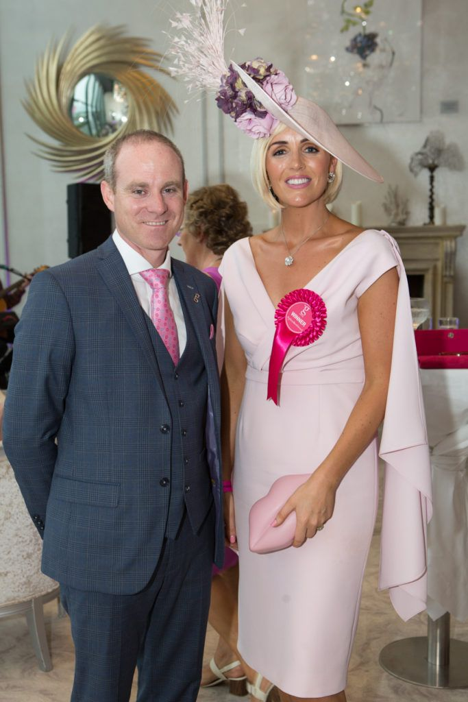 Andrew Drysdale, GM, g Hotel and Charlene Byers at the Ladies Day After Party in the g Hotel & Spa. Photo: Martina Regan