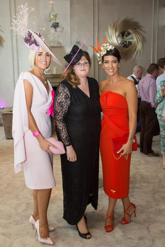 Charlene Byers, Maura O'Donnell and Lisa McGowan at the Ladies Day After Party in the g Hotel & Spa. Photo: Martina Regan