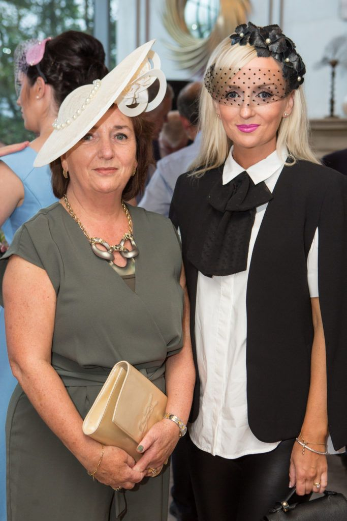 Lucia Ramberg and Milliner Edel Ramberg at the Ladies Day After Party in the g Hotel & Spa. Photo: Martina Regan