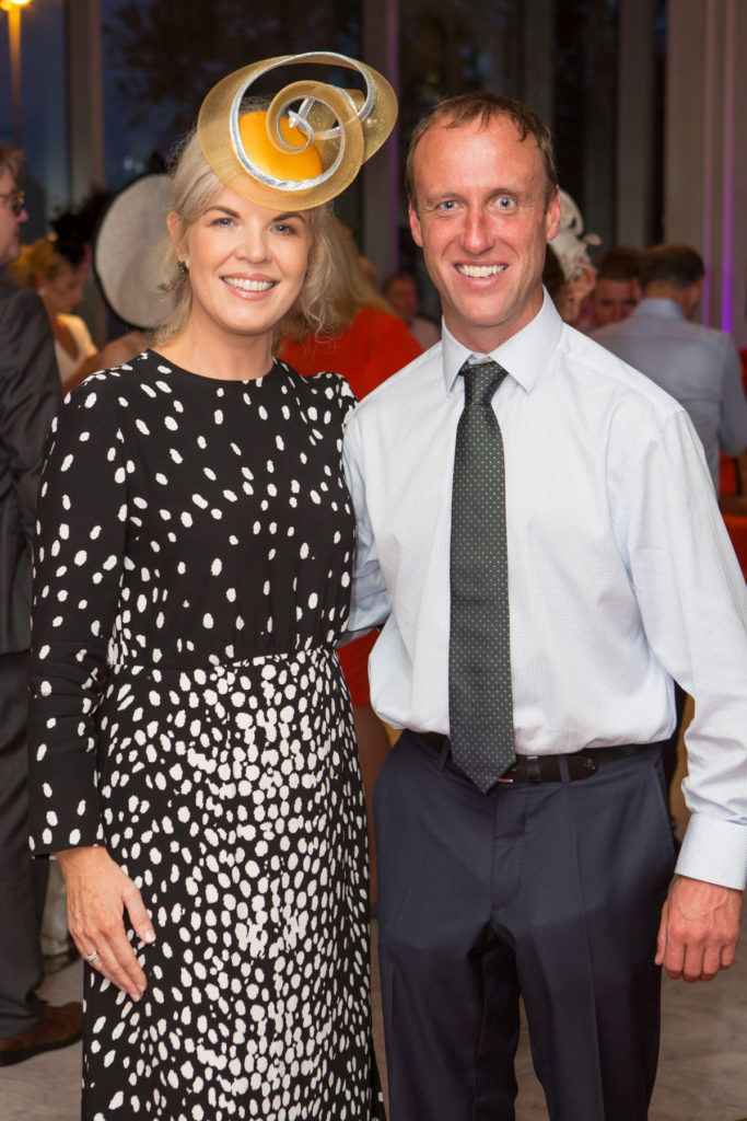 Stylist Marietta Doran and Robbie Power at the Ladies Day After Party in the g Hotel & Spa. Photo: Martina Regan