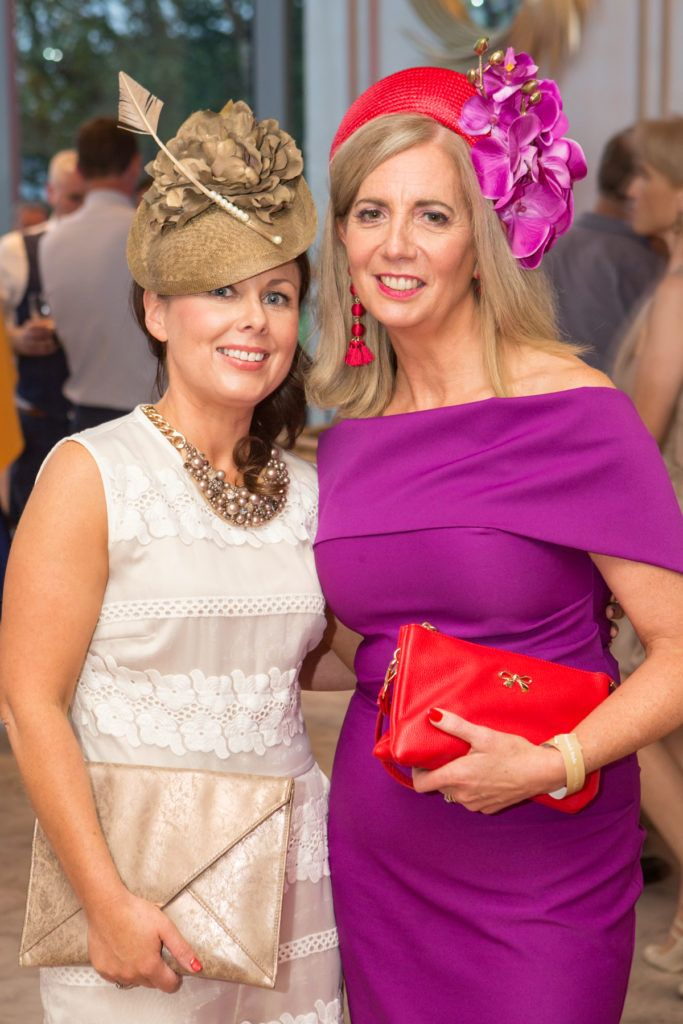 Deirdre Clarke and Milliner Majella Lennon at the Ladies Day After Party in the g Hotel & Spa. Photo: Martina Regan