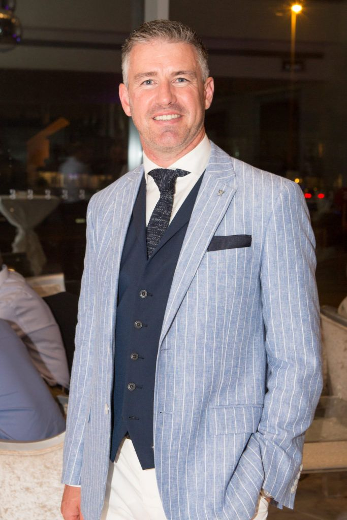 Winner of the g Hotel Most Stylish Man, Gavin Fleet at the Ladies Day After Party in the g Hotel & Spa. Photo: Martina Regan