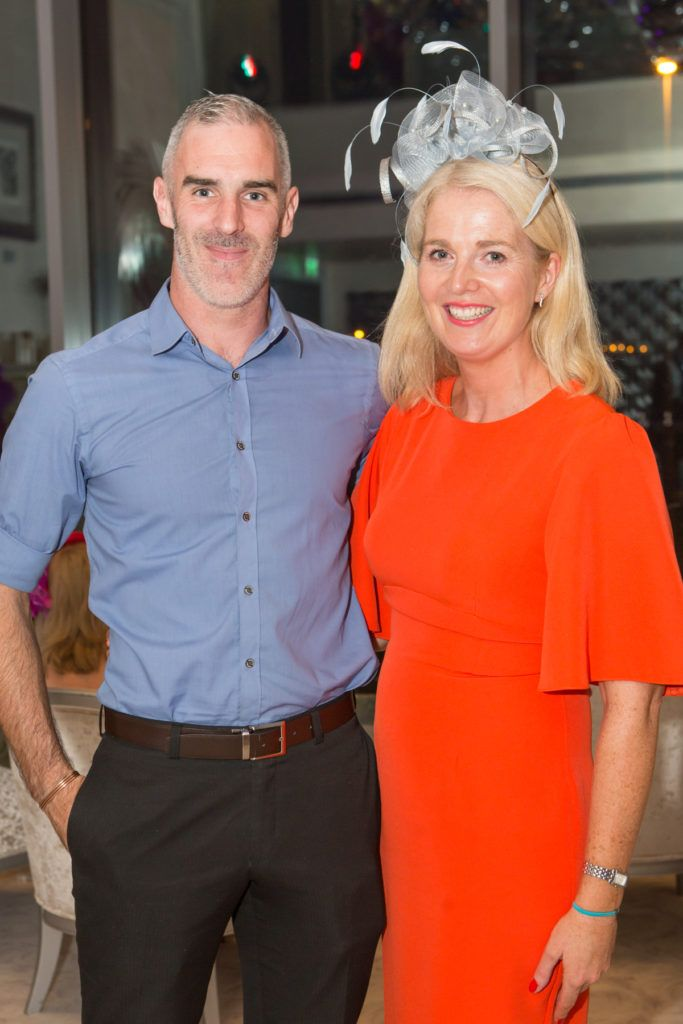 Noel Connell and Neasa Carr-O'Dea at the Ladies Day After Party in the g Hotel & Spa. Photo: Martina Regan