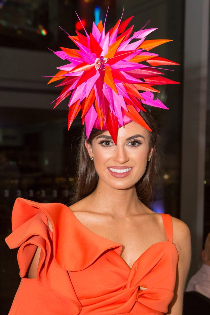 Winner of the g Hotel Best Hat, Aoife O'Sullivan at the Ladies Day After Party in the g Hotel & Spa. Photo: Martina Regan