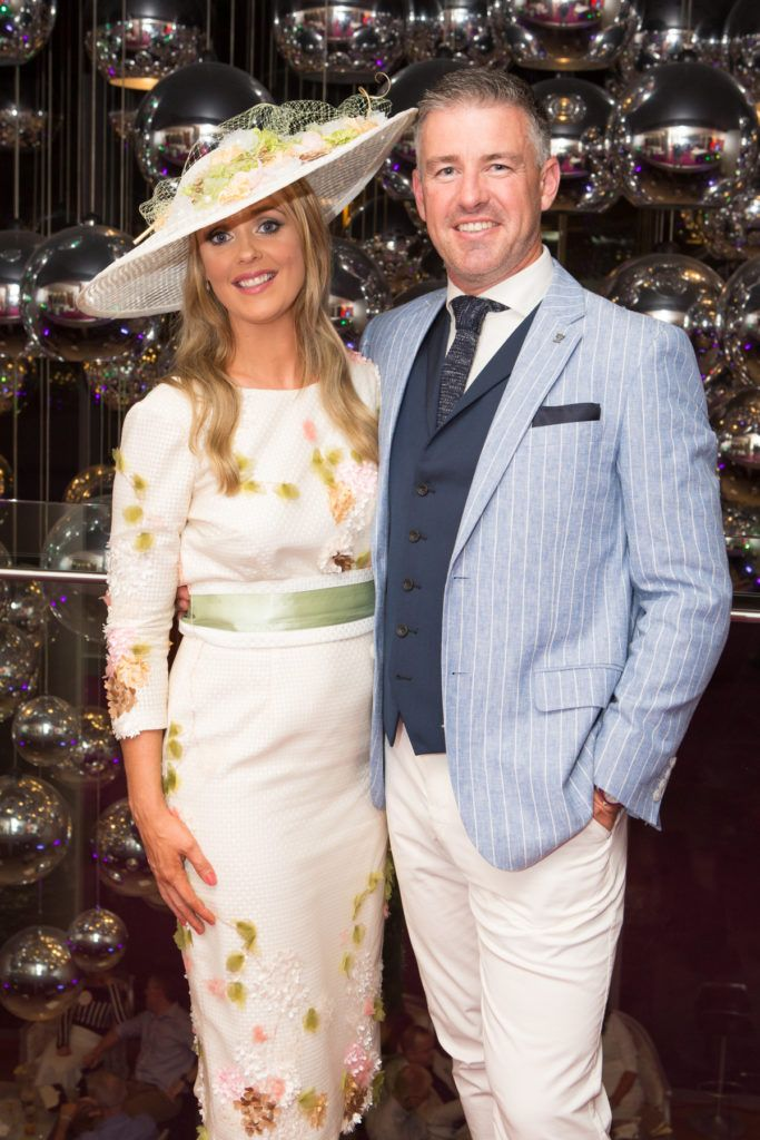 Aoiveann Fleet and Winner of the g Hotel Most Stylish Man, Gavin Fleet at the Ladies Day After Party in the g Hotel & Spa. Photo: Martina Regan