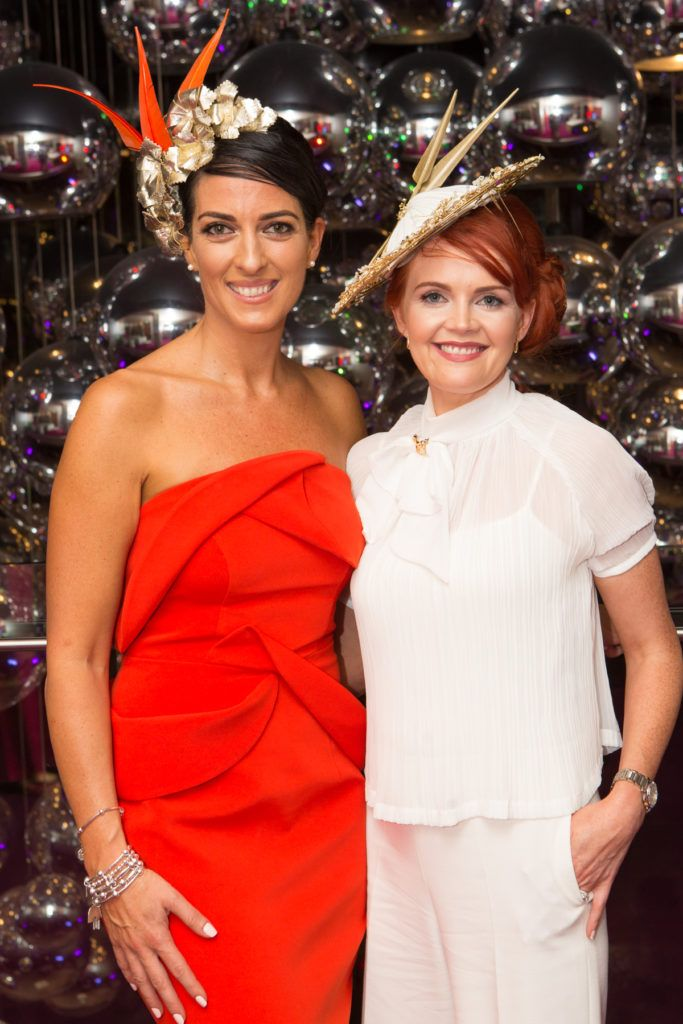 Lisa McGowan and Milliner Tina Hemlock at the Ladies Day After Party in the g Hotel & Spa. Photo: Martina Regan