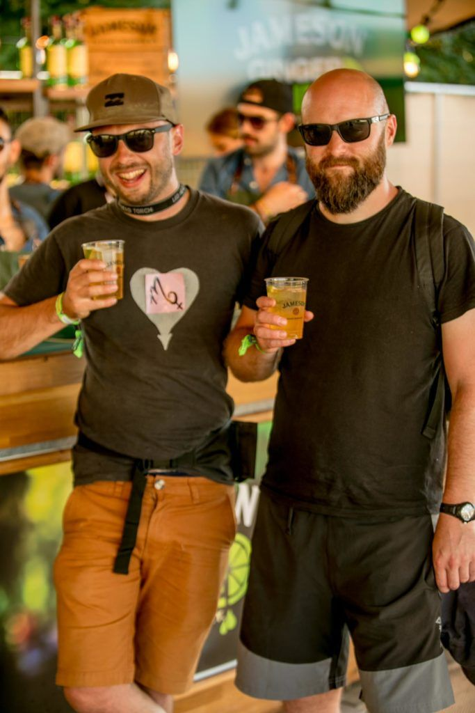 Ciaran Dempsey & Robert Connelly pictured at The Jameson Bar at All together now Festival in Waterford over the Bank holiday weekend. Picture: Allen Kiely