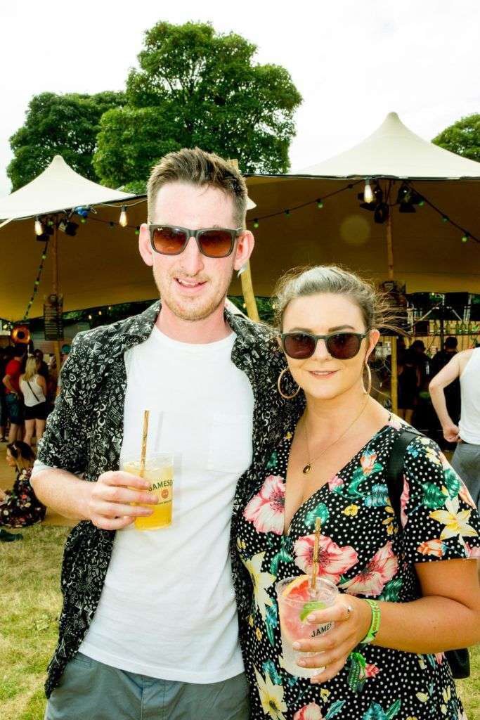 Peter McElligott & Karen Healy pictured at The Jameson Bar at All together now Festival in Waterford over the Bank holiday weekend. Picture: Allen Kiely