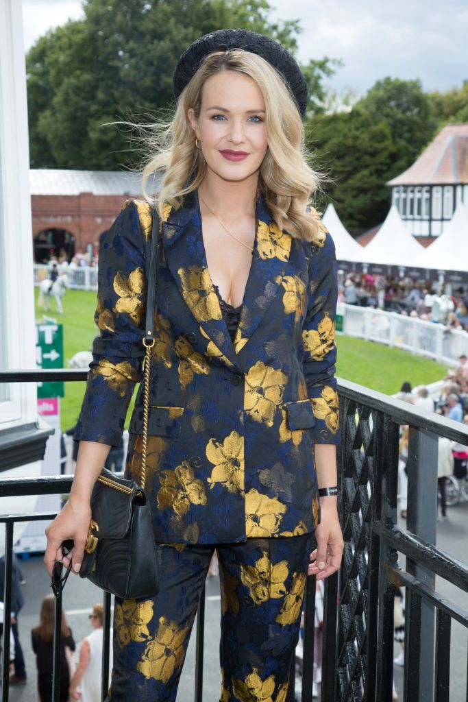 Aoibhin Garrihy pictured at the Dundrum Town Centre Ladies Day at the Dublin Horse Show. This years winner was Deirdre Kane from Carlow. Photo: Anthony Woods