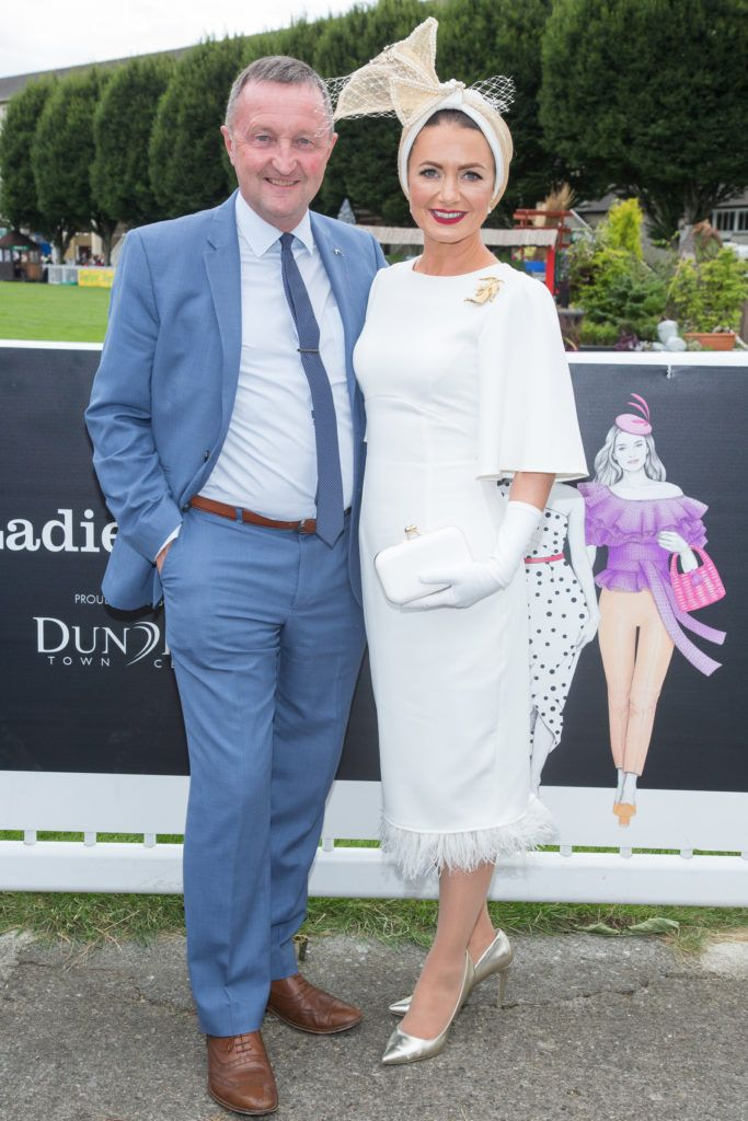 Dundrum Town Centre Director Don Nugent with Deirdre Kane from Carlow named best dressed at the Dundrum Town Centre Ladies Day at the Dublin Horse Show. Photo: Anthony Woods