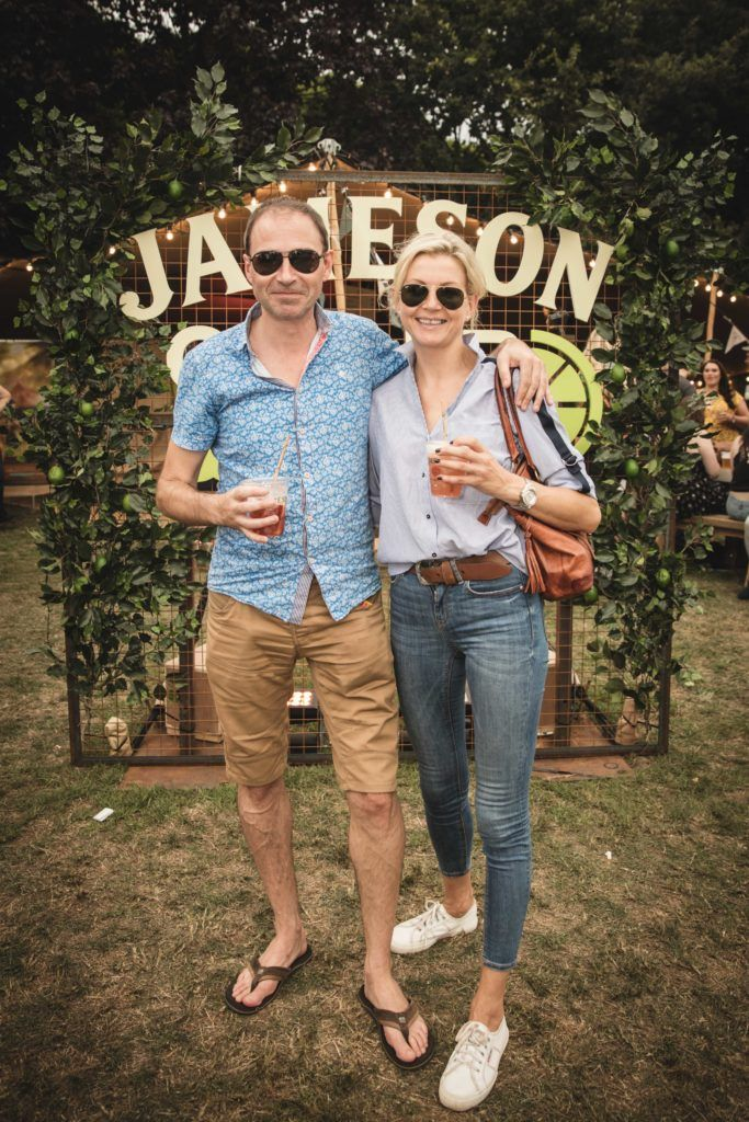 Pictured here is Davin Keane and Fiona Forristal at The Big Grill in partnership with Jameson Irish Whiskey. Picture: Derek Kennedy