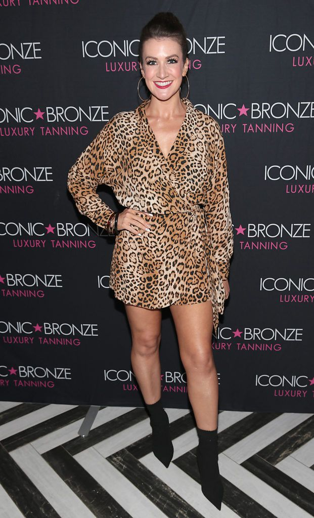 Rebecca Rose Quigley at the Iconic Bronze Extra Dark Tan launch at the Ivy Garden Hotel, Dublin. Picture: Brian McEvoy
