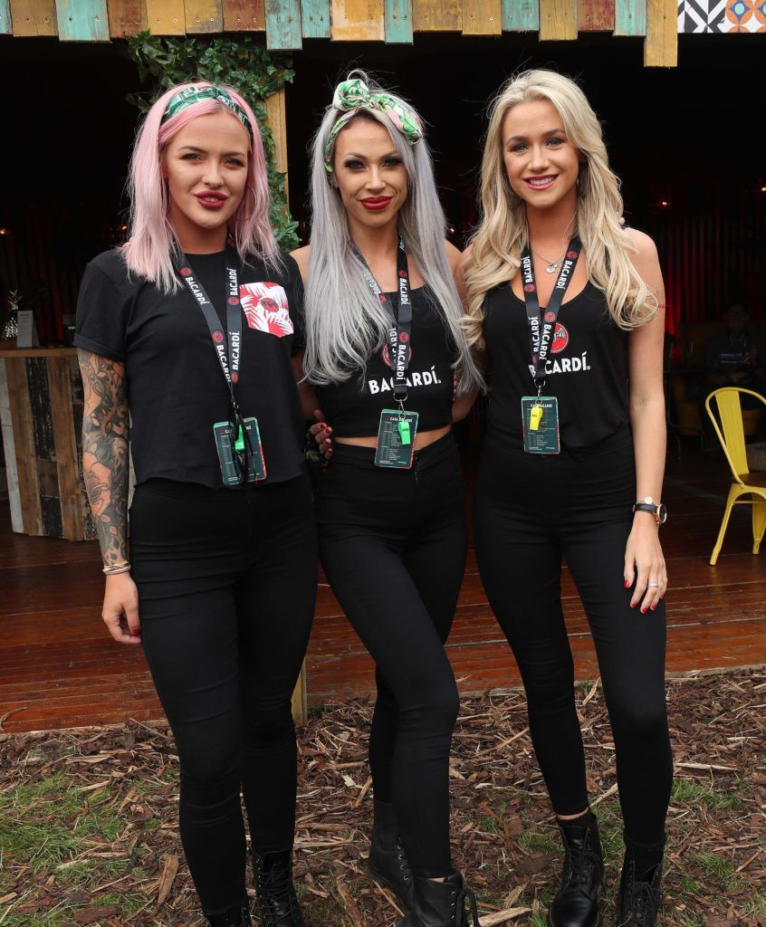 Orla Keogh (left) with Klaudia Rydz and Rachel Gallagher pictured in the renowned Casa Bacardi on Day Two of Electric Picnic 2018. Pic: Robbie Reynolds