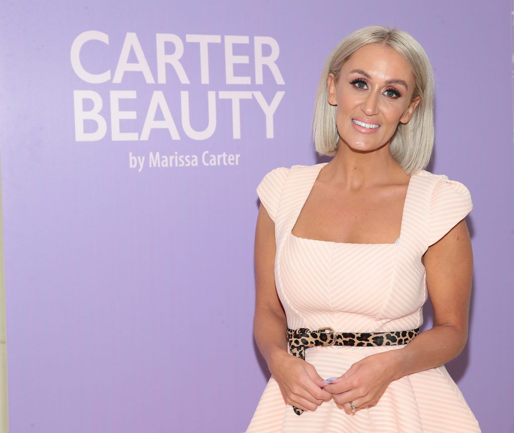 Marissa Carter pictured at the launch of Carter Beauty Cosmetics at the Morrison Hotel Dublin. Picture: Brian McEvoy