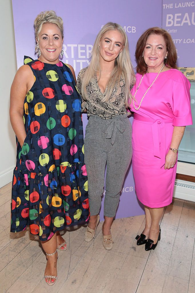 Heidi Kavanagh, Irene Molloy and Patricia Molloy pictured at the launch of Carter Beauty Cosmetics at the Morrison Hotel Dublin. Picture: Brian McEvoy