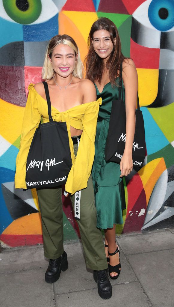 Jessica Woodley and Cairo Dwek at The NastyGal.com Autumn Winter Showcase at Drury Buildings Dublin, Ireland Picture: Brian McEvoy