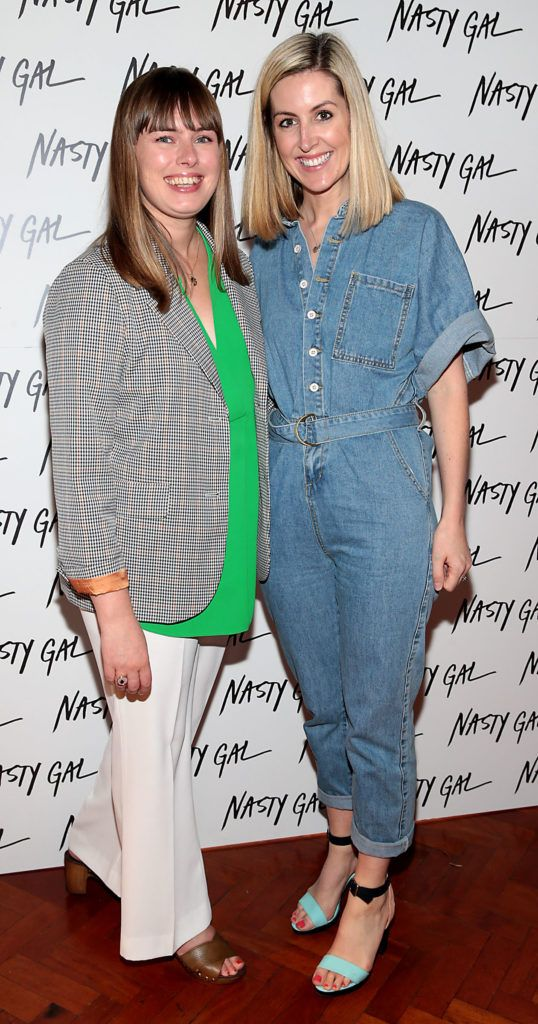 Katie Cullen and Kelly Byrne at The NastyGal.com Autumn Winter Showcase at Drury Buildings Dublin Picture: Brian McEvoy
