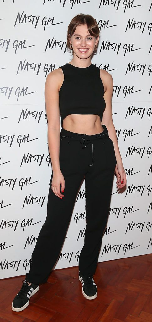 Caoimhe O Dwyer at The NastyGal.com Autumn Winter Showcase at Drury Buildings Dublin Picture: Brian McEvoy