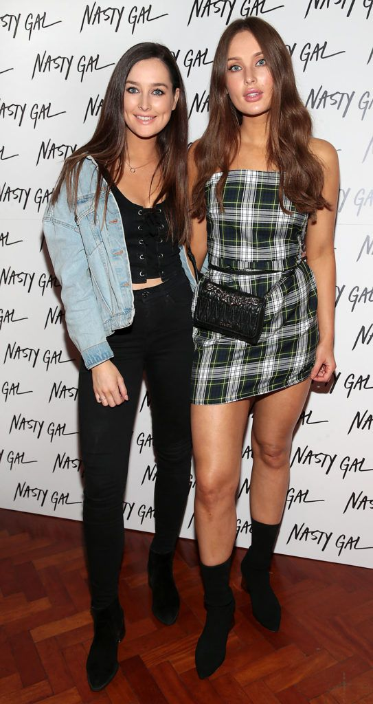 Rachel Purcell and Roz Purcell at The NastyGal.com Autumn Winter Showcase at Drury Buildings Dublin Picture: Brian McEvoy