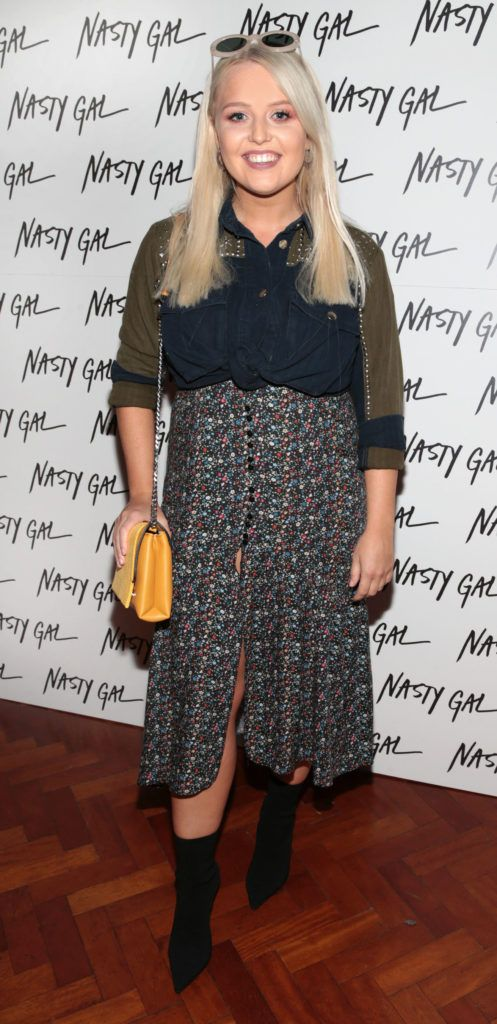 Laura Mullett at The NastyGal.com Autumn Winter Showcase at Drury Buildings Dublin Picture: Brian McEvoy