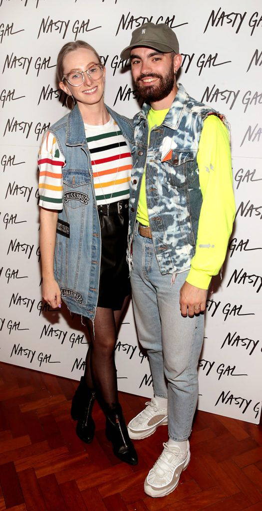 Niamh O Donoghue and Jake McCabe at The NastyGal.com Autumn Winter Showcase at Drury Buildings Dublin Picture: Brian McEvoy