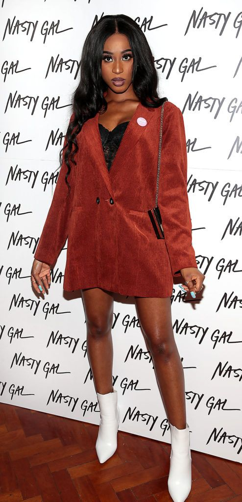 Nina Aigbe at The NastyGal.com Autumn Winter Showcase at Drury Buildings Dublin Picture: Brian McEvoy