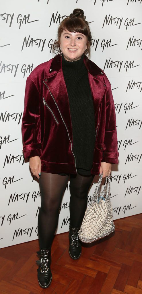 Sarah Magliocco at The NastyGal.com Autumn Winter Showcase at Drury Buildings Dublin Picture: Brian McEvoy