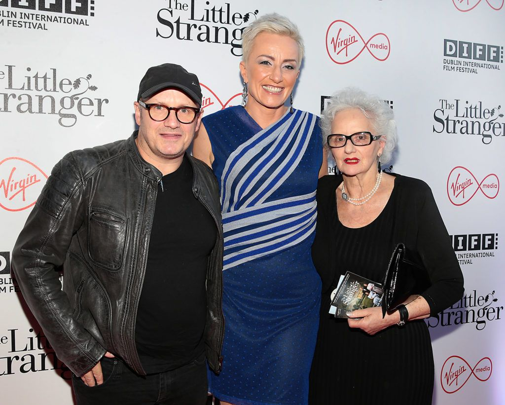Director Lenny Abrahamson with his wife Monika and his mother Edna at the European premiere of The Little Stranger, presented in association with Pathe and the Virgin Media Dublin International Film Festival at the Lighthouse Cinema, Dublin. Photo: Brian McEvoy