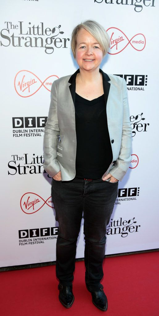 Writer Sarah Waters at the European premiere of The Little Stranger, presented in association with Pathe and the Virgin Media Dublin International Film Festival at the Lighthouse Cinema, Dublin. Photo: Brian McEvoy