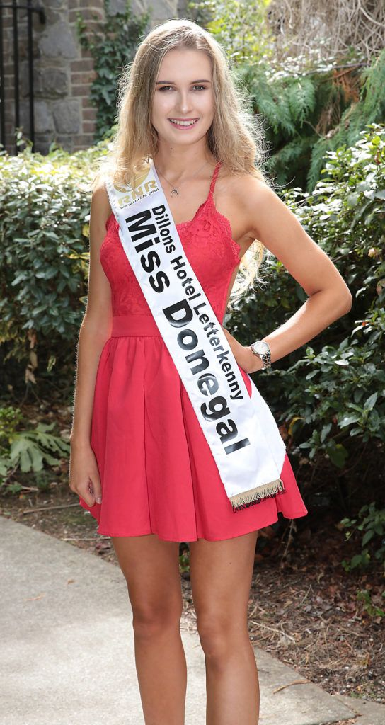 Miss Donegal Sophie Devlin pictured at a special preview of the Miss Ireland 2018 finalists at the Bonnington Hotel, Dublin. Photo: Brian McEvoy