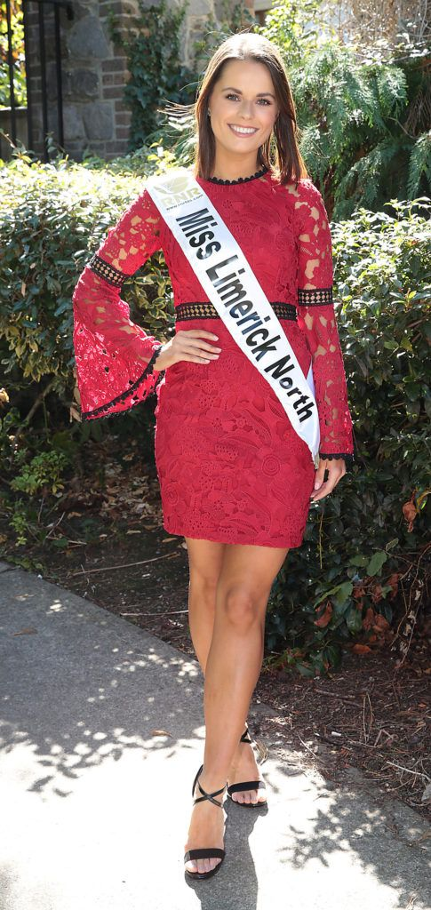 Miss Limerick North Laura Mansbridge pictured at a special preview of the Miss Ireland 2018 finalists at the Bonnington Hotel, Dublin. Photo: Brian McEvoy