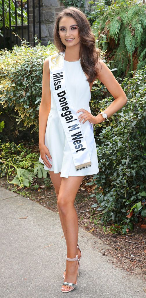 Miss Donegal North West Rebekah Coyle pictured at a special preview of the Miss Ireland 2018 finalists at the Bonnington Hotel, Dublin. Photo: Brian McEvoy