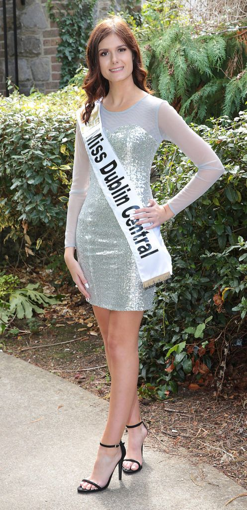 Miss Dublin Central Sinead Donovan pictured at a special preview of the Miss Ireland 2018 finalists at the Bonnington Hotel, Dublin. Photo: Brian McEvoy