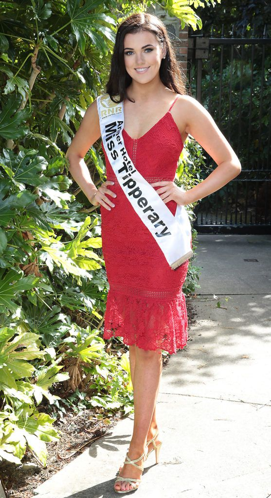 Miss Tipperary Robyn Barlow pictured at a special preview of the Miss Ireland 2018 finalists at the Bonnington Hotel, Dublin. Photo: Brian McEvoy
