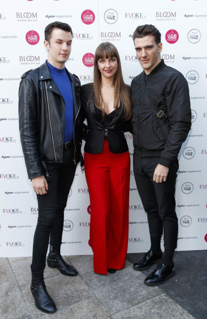 Ciarán Hewitt, Eibhlin Hewitt and Gary Talbot  at Dublin Fashion 2018: The Collective. Showcasing the latest trends for the season ahead from leading stores across Dublin city centre. Picture Andres Poveda