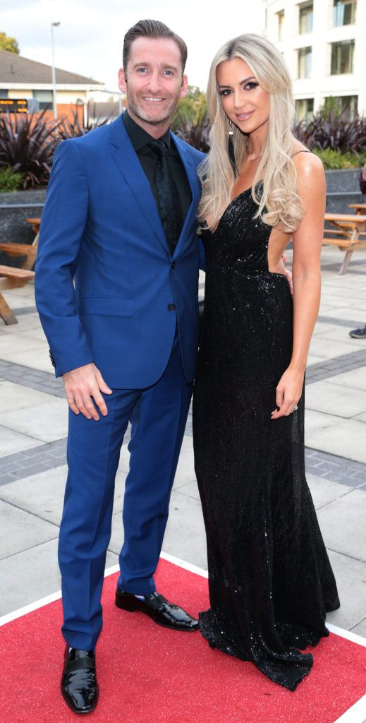Paul Byrom and Rosanna Davison at the grand final of Miss Ireland 2018 in association with RNR Fits at the Helix Theatre, Dublin. Photo by Brian McEvoy